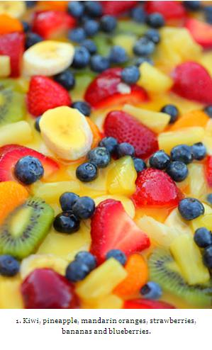 1. Kiwi Pineapple Fruit Salad