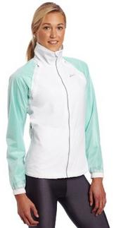 Asics Women's 2-in-1 Jacket-Detachable zippered and tabbed shrug/sleeves transform this jacket instantly to a vest