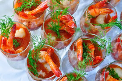 20 Best Retro Appetizers - - - - - # 4. Shrimp Cocktail - Click here for individual serving glasses
