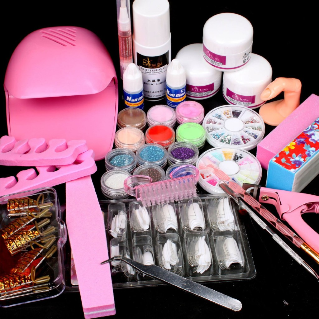 • What a great gift for a girl to learn how to do her nails! •100% Brand new in retail package • 24 PCS Pro nail art tool kit •Lowest price ever !! •Check Product description for items included ! •Mini Portable Fan Blower Nail Dryer is not including the battery, Pink or white color will be sent out in random.