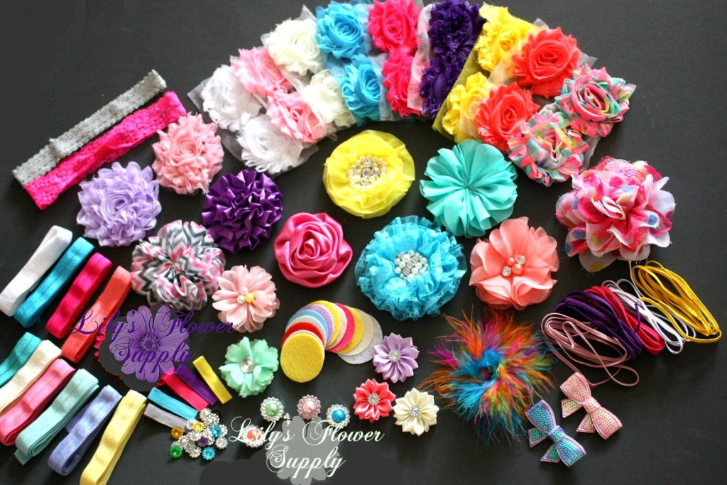•Headband Kit - DIY Hair Bow Making Kit - Birthday Party - Baby Shower • Birthday Party Theme. •Baby Shower Headband Kit! •	Get a complete baby shower headband station kit with just one package. •	Make over 32 Headbands Plus 5 Clips!