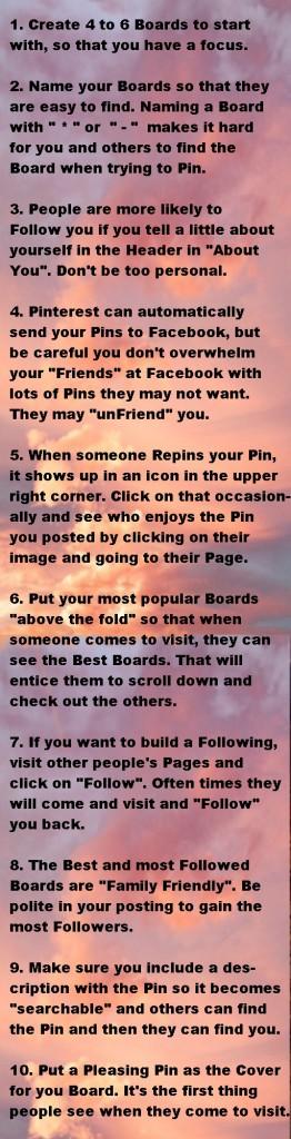 10 Pinterest Pointers